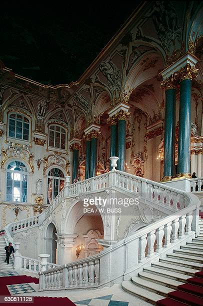 Jordan Staircase Winter Palace by Bartolomeo Francesco Rastrelli now the Hermitage Museum Saint Petersburg Russia 18th19th century