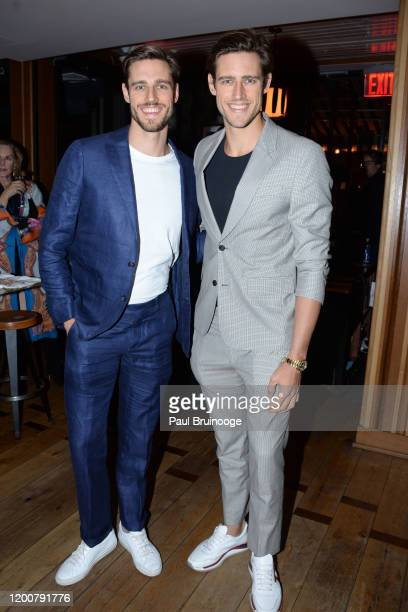 Jordan Stenmark and Zac Stenmark attend MAC Nordstrom And The CFDA Host The After Party For The Times Of Bill Cunningham at Bistrot Leo on February...