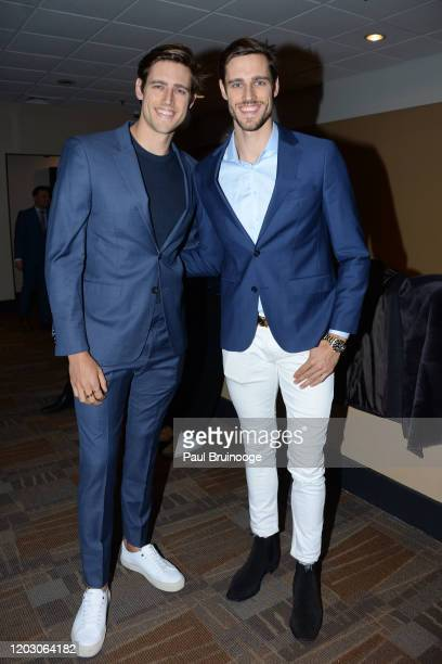 "Jordan Stenmark and Zac Stenmark attend The Cinema Society & Monkey 47 Host A Special Screening Of Sony Pictures Classics' ""Greed"" at Cinepolis..."
