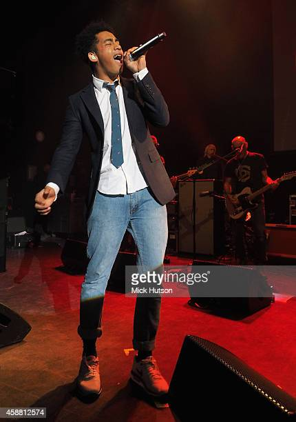 Jordan Stephen of Rizzle Kicks performs on stage as part of an evening of The Who music in aid of Teenage Cancer Trust at O2 Shepherd's Bush Empire...