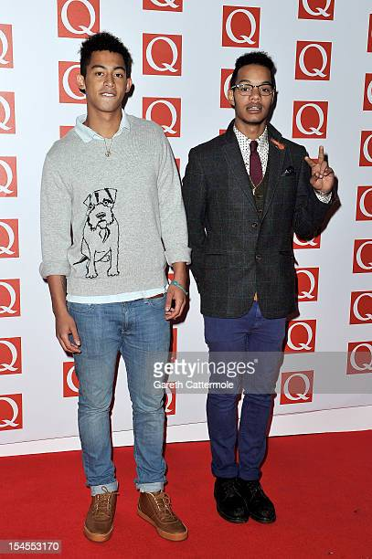 Jordan Stephens and Harley AlexanderSule of Rizzle Kicks attend the Q Awards at the Grosvenor House Hotel on October 22 2012 in London England