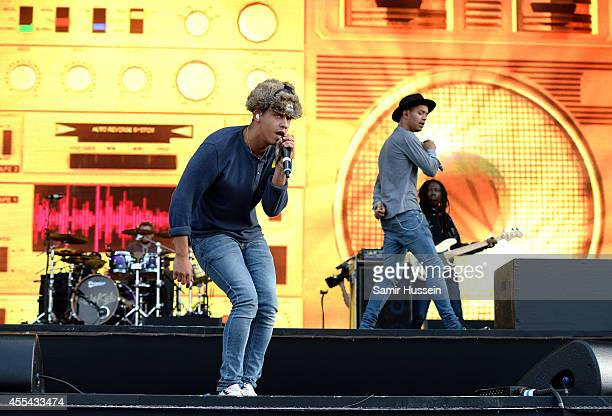 Jordan Stephens and Harley AlexanderSule of Rizzle Kicks perform onstage during the Invictus Games Closing Concert at the Queen Elizabeth Olympic...