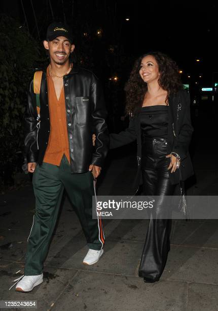 Jordan Stephens and Jade Thirlwall are seen on September 13, 2021 in London, England.
