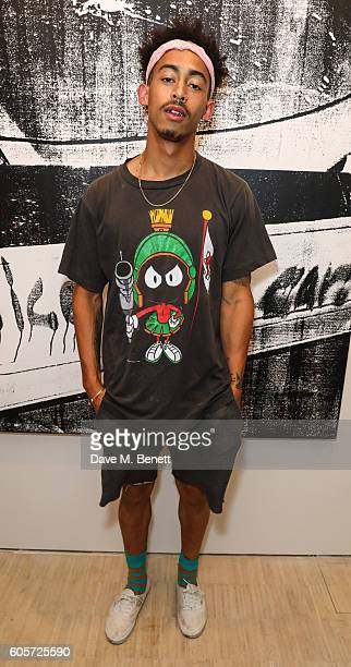 Jordan Stephens attends a private view of 'Stutter' a new exhibition by Kingsley Ifill at The Cob Gallery on September 14 2016 in London England
