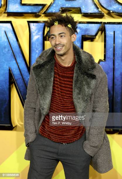 Jordan Stephens attends the European Premiere of 'Black Panther' at Eventim Apollo on February 8 2018 in London England