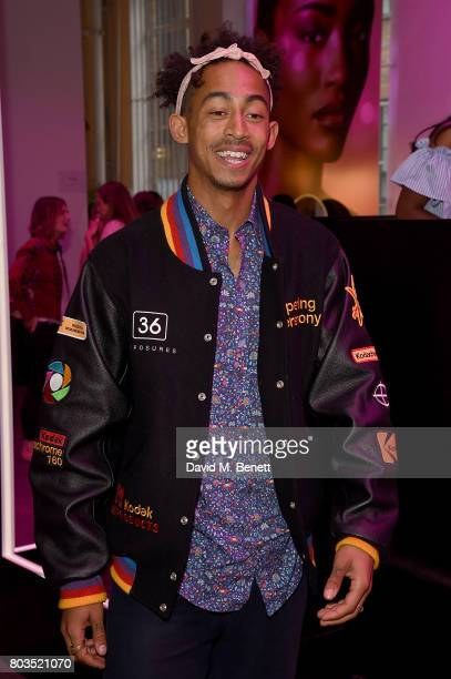 Jordan Stephens from Rizzle Kicks attends cosmetics brand NARs summer party alongside VIP friends and fans of the brand at Protein on June 29 2017 in...