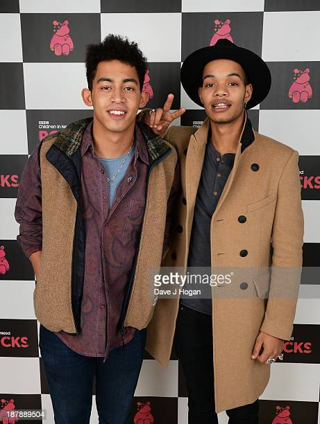 Jordan Stephens Harley AlexanderSule of Rizzle Kicks pose with backstage during the 'BBC Children In Need Rocks' at Hammersmith Eventim on November...