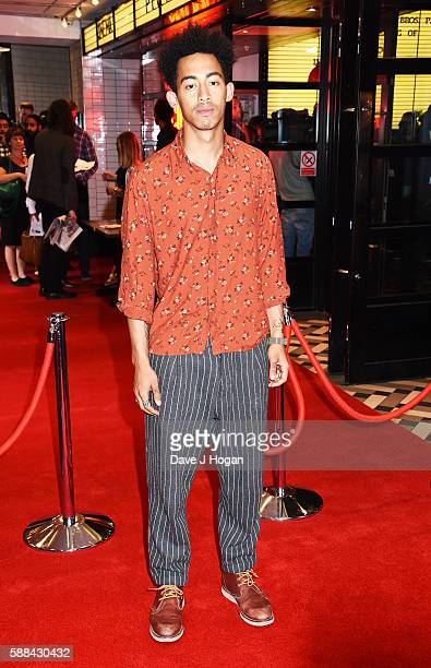 Jordan Stephens of Rizzle Kicks attends a special screening of 'War Dogs' at Picturehouse Central on August 11 2016 in London England
