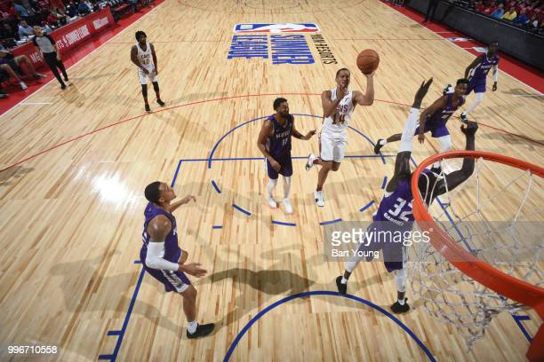 Jordan Stevens of the Cleveland Cavaliers shoots the ball against the Sacramento Kings during the 2018 Las Vegas Summer League on July 11 2018 at the...