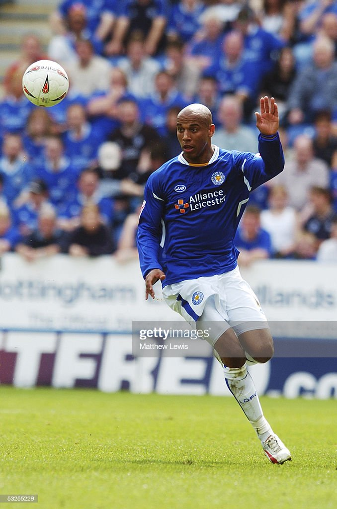 Jordan Stewart of Leicester City in action during the Coca-Cola Championship match between Leicester City and Leeds United at the Walkers Stadium on May 1, 2005 in Leicester, England.
