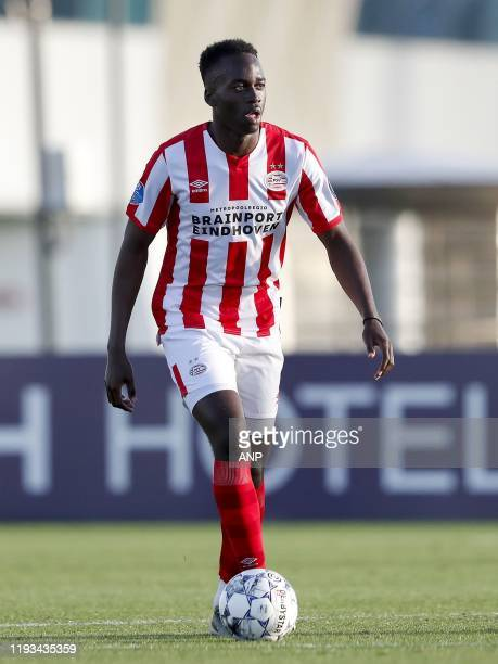 Jordan Teze of PSV during a international friendly match between PSV Eindhoven and KAS Eupen at Aspire Academy on January 11, 2020 in Doha, Qatar