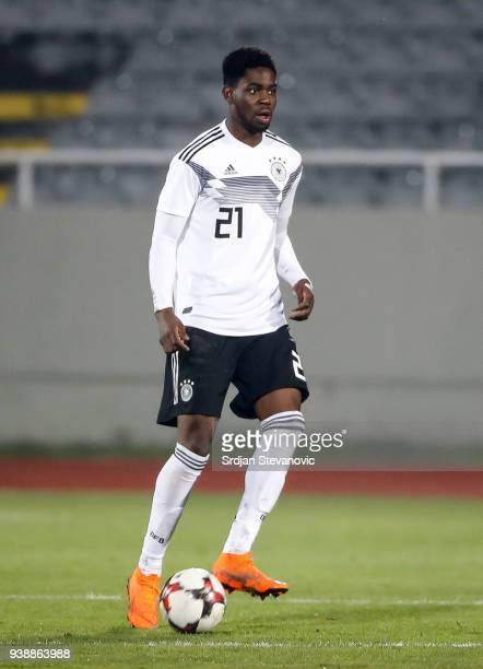 Jordan Torunarigha of Germany in action during the 2019 UEFA Under21 European Championship qualifier match between Kosovo U21 and Germany U21 at...