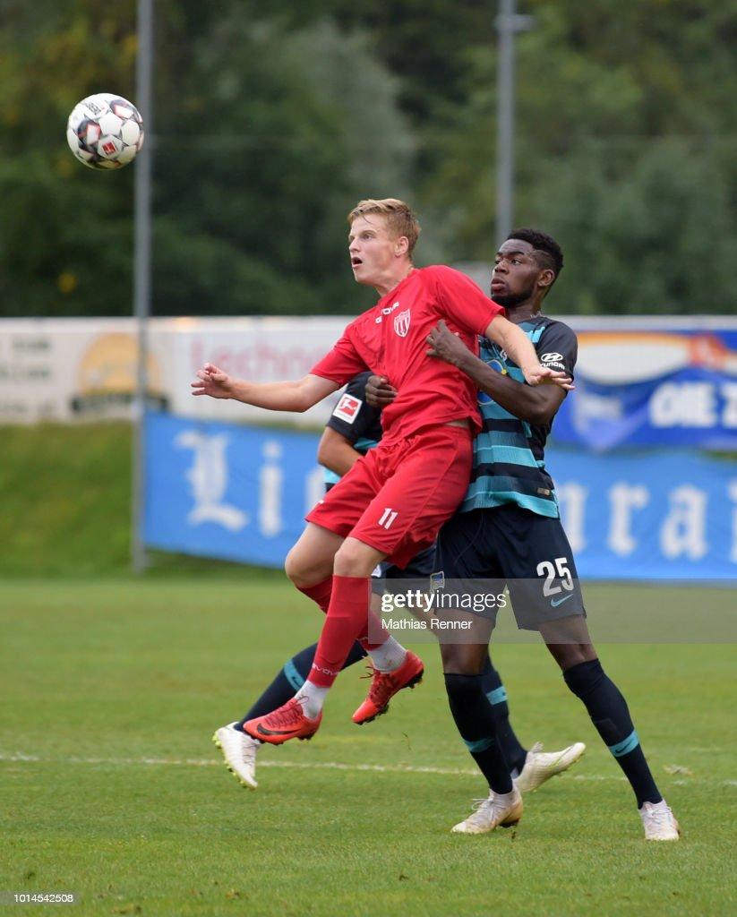 Jordan Torunarigha of Hertha BSC during the test match between Hertha BSC and Aiginiakos FC on august 10, 2018 in Schladming, Austria.