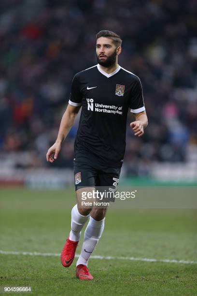 Jordan Turnbull of Northampton Town in action during the Sky Bet League One match between Bradford City and Northampton Town at Coral Windows Stadium...