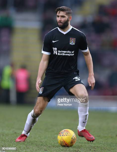 Jordan Turnbull of Northampton Town in action during the Sky Bet League One match between Bradford City and Northampton Town at Northern Commercials...