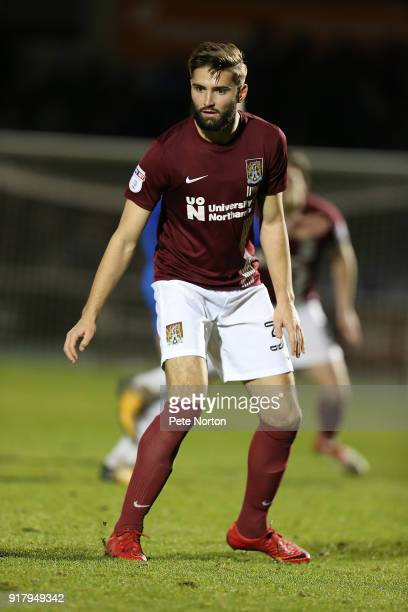 Jordan Turnbull of Northampton Town in action during the Sky Bet League One match between Northampton Town and Gillingham at Sixfields on February 13...