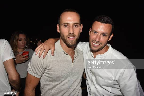 Jordan Ustin and Trevor Jacobson attend Brian Feit's 40th Birthday Party at 550 West 29th Street on July 19 2018 in New York City