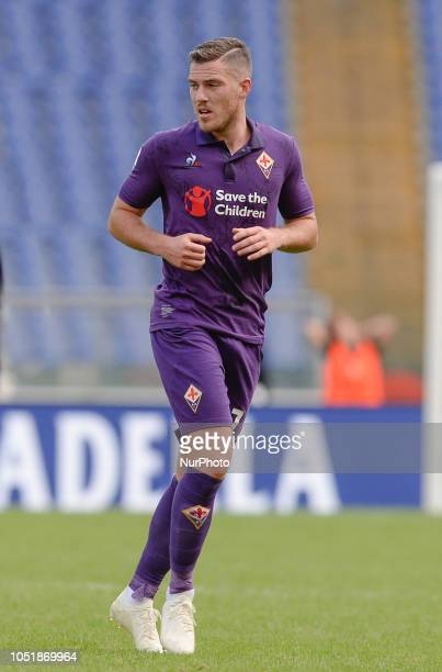 Jordan Veretout during the Italian Serie A football match between SS Lazio and Fiorentina at the Olympic Stadium in Rome on october 07 2018