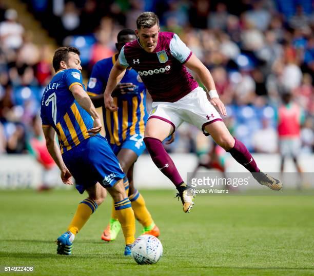 Jordan Veretout of Aston Villa during the PreSeason Friendly match between Shrewsbury Town and Aston Villa at the Greenhous Meadow on July 15 2017 in...