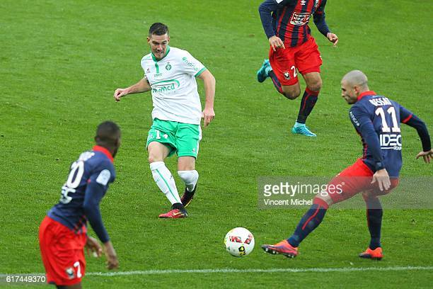 Jordan Veretout of Saint Etienne during the Ligue 1 match between SM Caen and AS SaintEtienne at Stade Michel D'Ornano on October 23 2016 in Caen...