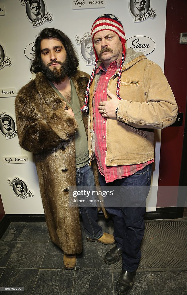 Jordan Vogt-Roberts and Nick Offerman attend 'Toy's House' Official Cast After-Party Sponsored By Siren on January 19, 2013 in Park City, Utah.