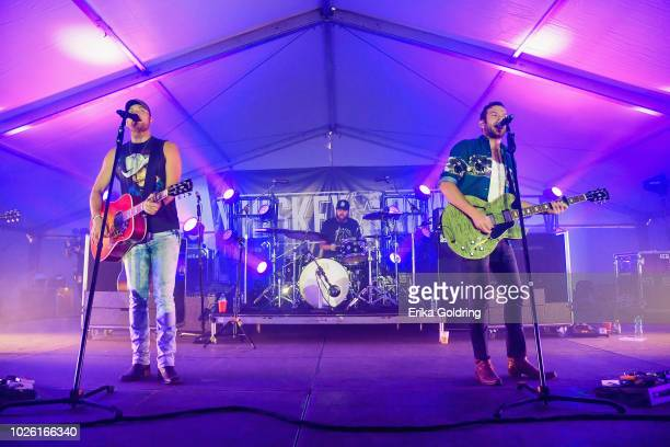 Jordan Walker and Johnny McGuire of Walker McGuire perform on Day 2 of Seven Peaks Festival on September 1 2018 in Buena Vista Colorado