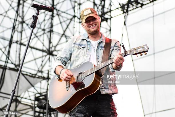 Jordan Walker of Walker McGuire band performs on stage at Sands Steel Stage at PNC Plaza on August 12 2017 in Bethlehem Pennsylvania