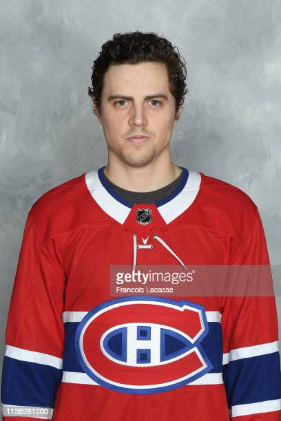 Jordan Weal of the Montreal Canadiens poses for his official headshot for the 20182019 season at the Bell Centre prior the NHL game against the New...