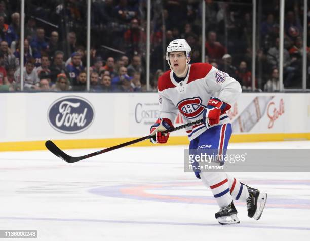 Jordan Weal of the Montreal Canadiens skates against the New York Islanders at NYCB Live's Nassau Coliseum on March 14 2019 in Uniondale New York The...