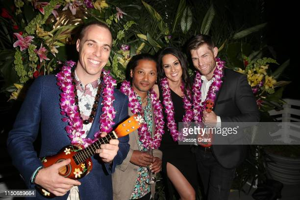 Jordan Whalen Menhaj Huda Kelen Coleman and Liam McIntyre attend the Lifetime Summer Luau on May 20 2019 in Los Angeles California
