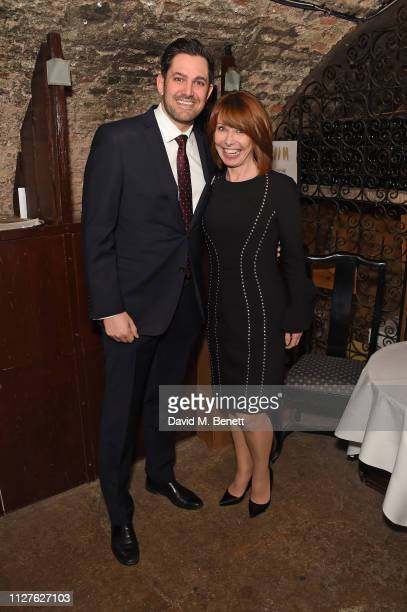 Jordan Wiley Kay Burley attend the National Youth Theatre's fundraising event at The Stafford Hotel on February 26 2019 in London England
