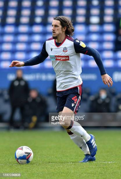 Jordan Williams of Bolton Wanderers during the Sky Bet League 2 match between Bolton Wanderers and Harrogate Town at the Reebok Stadium, Bolton,...