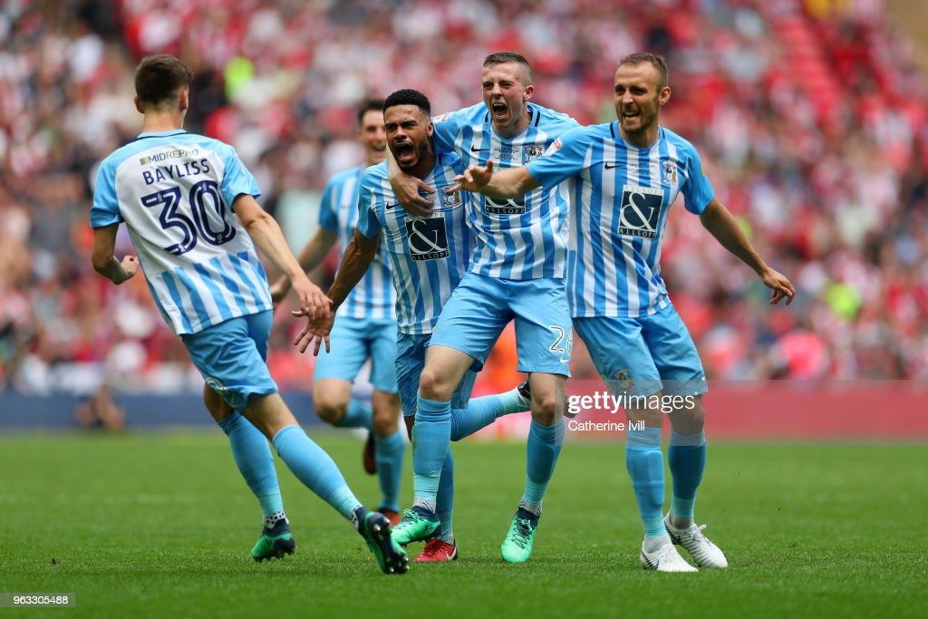 Coventry City v Exeter City - Sky Bet League Two Play Off Final : News Photo