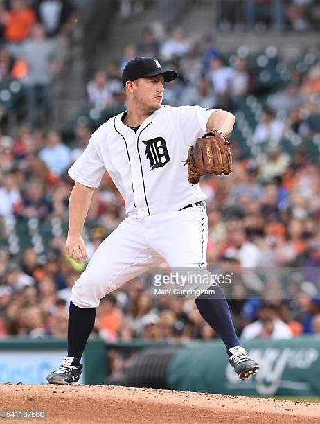 Jordan Zimmermann of the Detroit Tigers pitches during the game against the Chicago White Sox at Comerica Park on June 3 2016 in Detroit Michigan The...