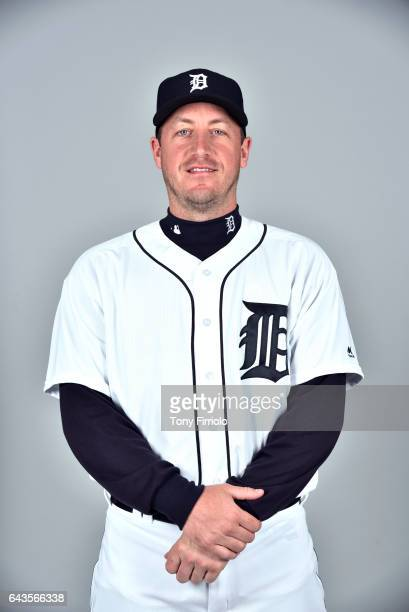 Jordan Zimmermann of the Detroit Tigers poses during Photo Day on Sunday February 19 2017 at Publix Field at Joker Marchant Stadium in Lakeland...