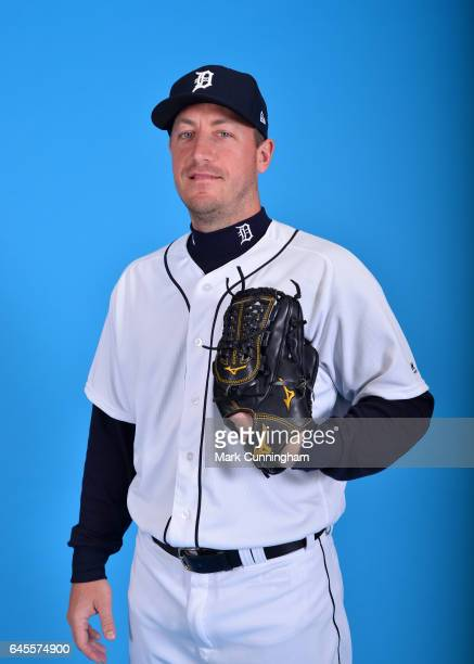 Jordan Zimmermann of the Detroit Tigers poses for a portrait during Photo Day on Sunday February 19 2017 at Publix Field at Joker Marchant Stadium in...