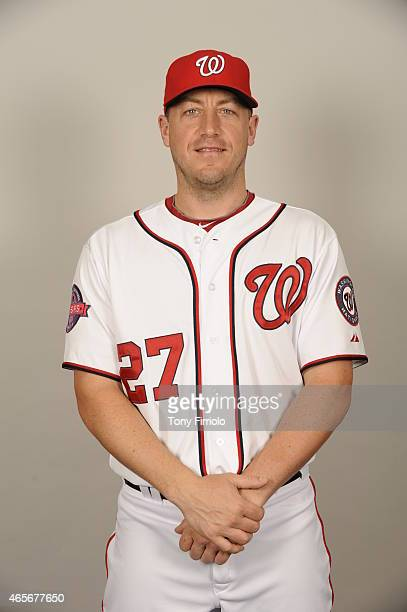 Jordan Zimmermann of the Washington Nationals poses during Photo Day on Sunday March 1 2015 at Space Coast Stadium in Viera Florida