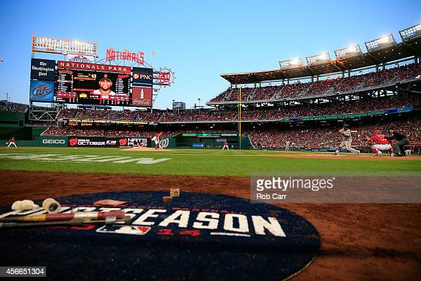 Jordan Zimmermann of the Washington Nationals throws a pitch to Pablo Sandoval of the San Francisco Giants in the fourth inning during Game Two of...