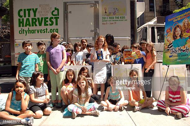 Jordana Beatty attends the Feed the Kids Food Drive for City Harvest at Manhattan PS 11 School on May 25, 2011 in New York City.