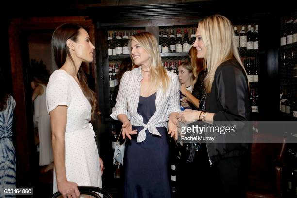 Jordana Brewster Ali Larter and Molly Sims attend as Jenni Kayne Loeffler Randall celebrate PopUp at AOC Wine Bar on March 14 2017 in Los Angeles...