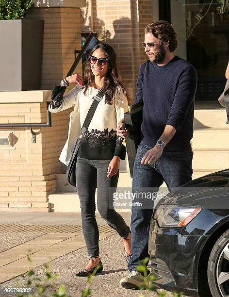 Jordana Brewster and Andrew Form are seen in Beverly Hills on December 22 2014 in Los Angeles California