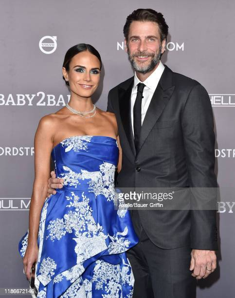 Jordana Brewster and Andrew Form attend the 2019 Baby2Baby Gala Presented By Paul Mitchell at 3LABS on November 09 2019 in Culver City California