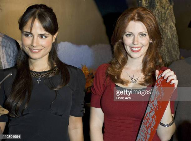 Jordana Brewster and Diora Baird during CHAMBER LIVE Featuring House of Horrors at Madame Tussauds at Madame Tussauds New York in New York City New...