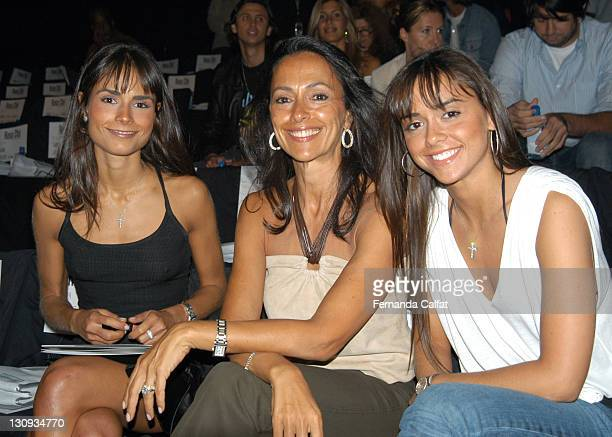 Jordana Brewster and guests during MercedesBenz Fashion Week Spring 2004 Rosa Cha Front Row at Bryant Park in New York City New York United States