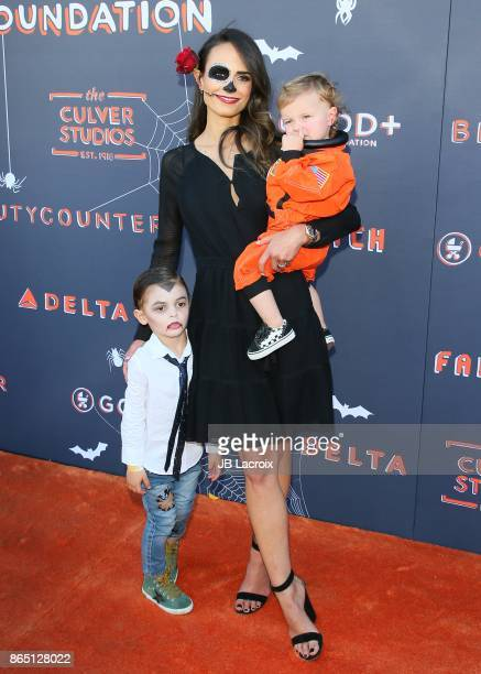 Jordana Brewster and kids Julian FormBrewster Rowan BrewsterForm attend the GOOD Foundation's 2nd Annual Halloween Bash on October 22 2017 in Los...
