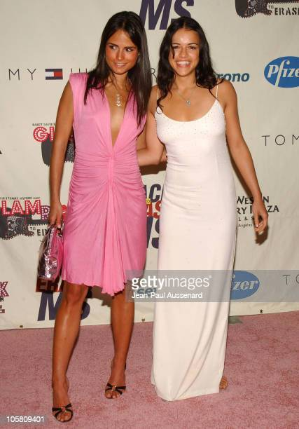 Jordana Brewster and Michelle Rodriguez during 11th Annual Race To Erase MS Gala Arrivals at The Westin Century Plaza Hotel in Los Angeles California...