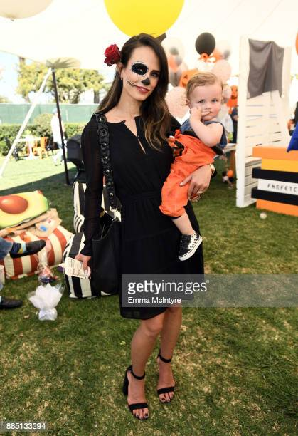 Jordana Brewster and Rowan BrewsterForm attend the GOOD Foundation Halloween Bash presented by Beautycounter Delta Air Lines and Farfetch at Culver...