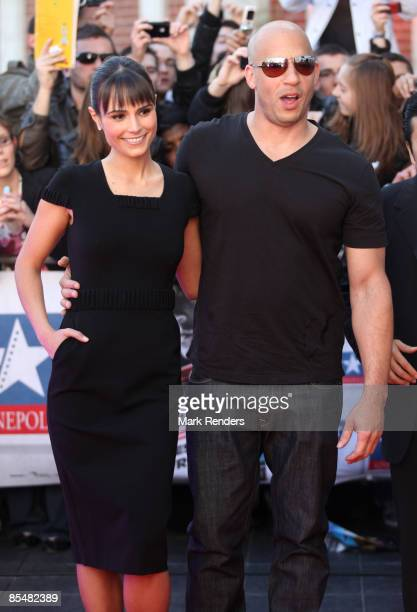 Jordana Brewster and Vin Diesel attends Fast Furious 4 Photocall at Lomme Kinepolis on March 18 2009 in Lille France