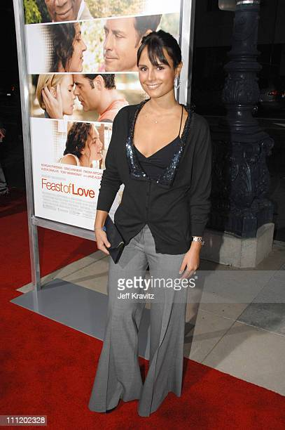 Jordana Brewster arrives at the 'Feast of Love' premiere at The Academy of Motion Picture Arts and Sciences on September 25 2007 in Los Angeles...