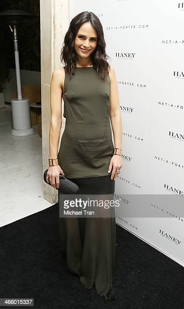 Jordana Brewster arrives at the NetAPorter and Haney PretACouture hosts launch party held at The Standard Hotel on February 1 2014 in Los Angeles...